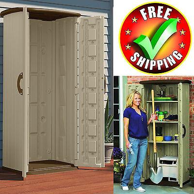 Garden Shed Storage Outdoor Tool Plans Kit Utility Resin Backyard Lawn Organizer ()
