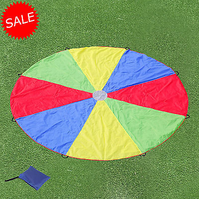 12 FT Play Parachute Kids Large 8 Handles Group Exercise Indoor Outdoor Team