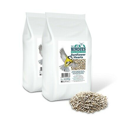 Birdies 25Kg Premium Grade Kernels Sunflower Hearts No Mess Wild Bird Food