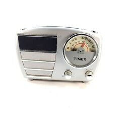 Timex Retro Style Alarm Clock Radio Model T247S Silver - Tested and 100% Working