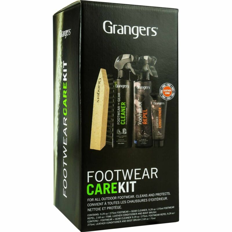 Grangers Footwear Care Kit Waterproofing And Cleaning All-In-One Bundle Pack