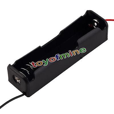 1 PCS black plastic box as 18650 Batteries  3.7V case