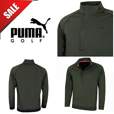 Puma Golf Mens Pwrwarm 1/4 Zip WarmCELL Stretch Performance Pullover New F/G