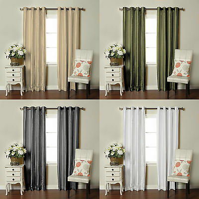 Brielle Fortune Faux Dupioni Silk Lined Curtain - Dupioni Silk Lined Panel