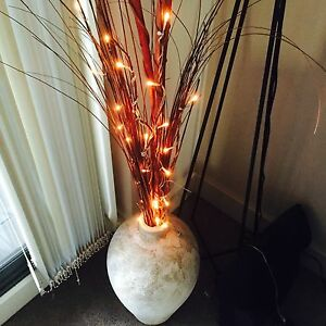Homewares - Vase with lights decorative sticks Wolli Creek Rockdale Area Preview