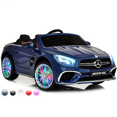 Electric Ride On Cars For Kids MP4 Screen Licensed Mercedes SL65 LED Screen Blue