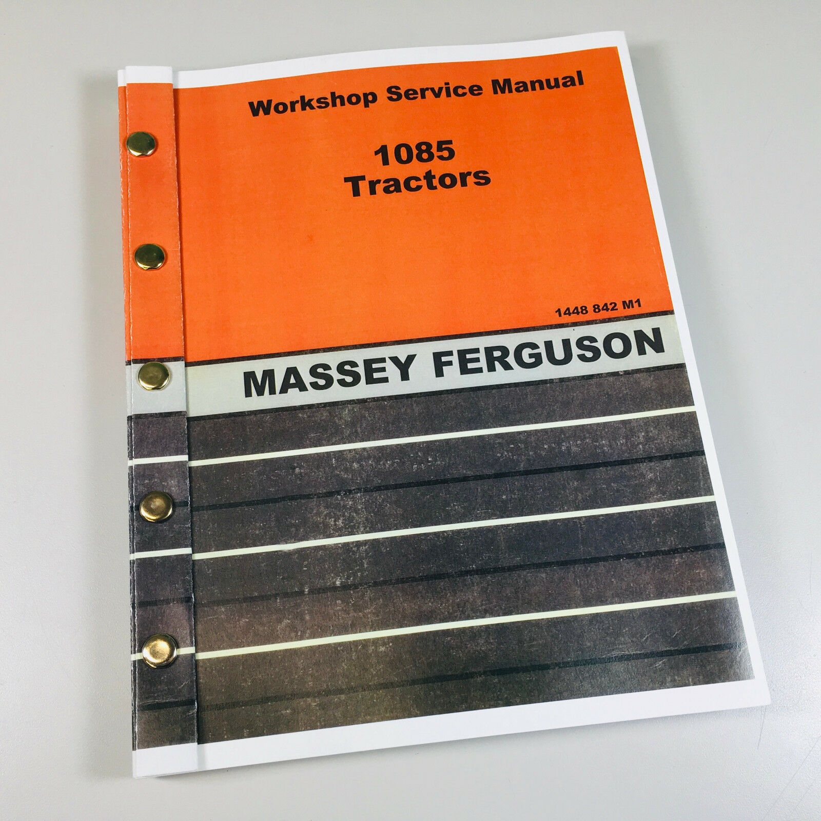 Massey Ferguson 1085 Tractor Service Manual. 290+ pages.....Thick,  comprehensive manual.....Most complete and up-to-date original equipment  manufacturers ...