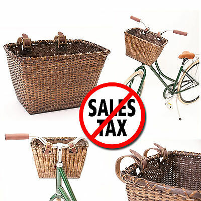 Pet Basket Storage Dog Cat Ride Bike Front Handlebars Bicycle Carrier Picnic NEW