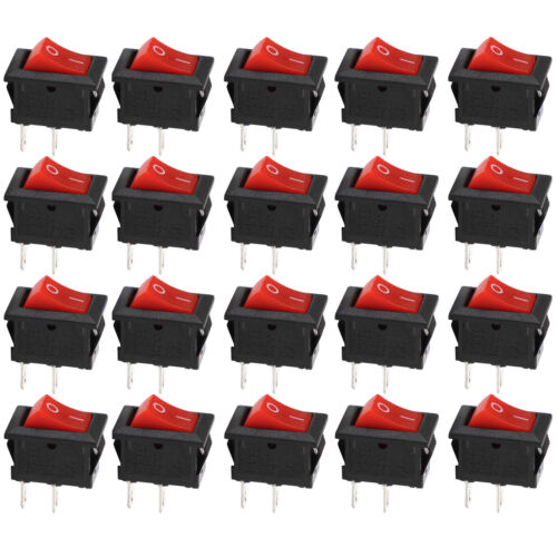 10pcs 2-Pin ON//OFF SPST Rocker Toggle Switch Set 12V DC Car Boat Quality