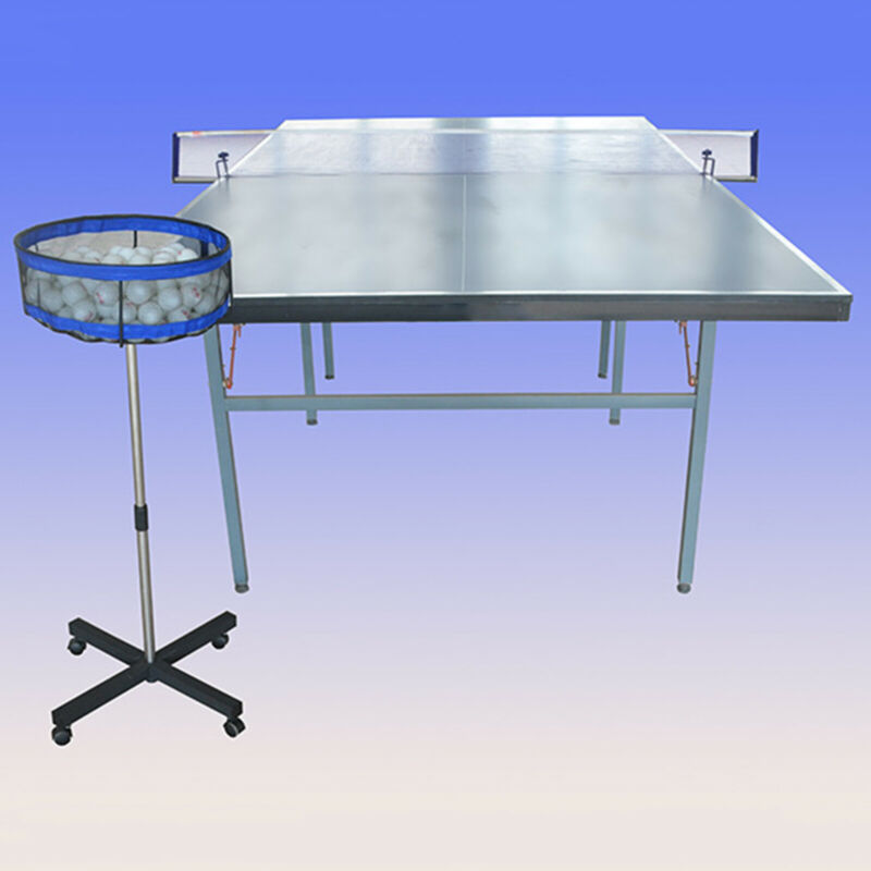 Ping Pong Ball Storage Golf Tennis Multi-Ball Container Stand Height Adjustable