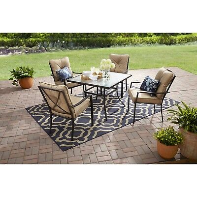 Outdoor Dining Table Set Patio Furniture Sets Table And Chairs Clearance 5 Piece ()