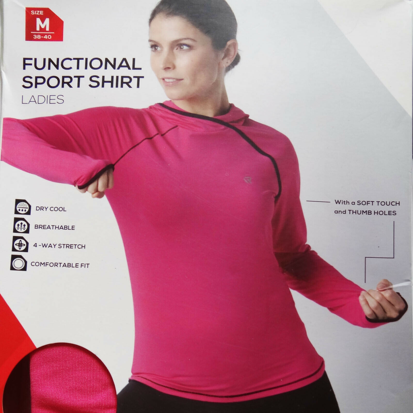 Damen Oberteil für Sport und Freizeit Funktions Shirt Lauf Fitness Langarm