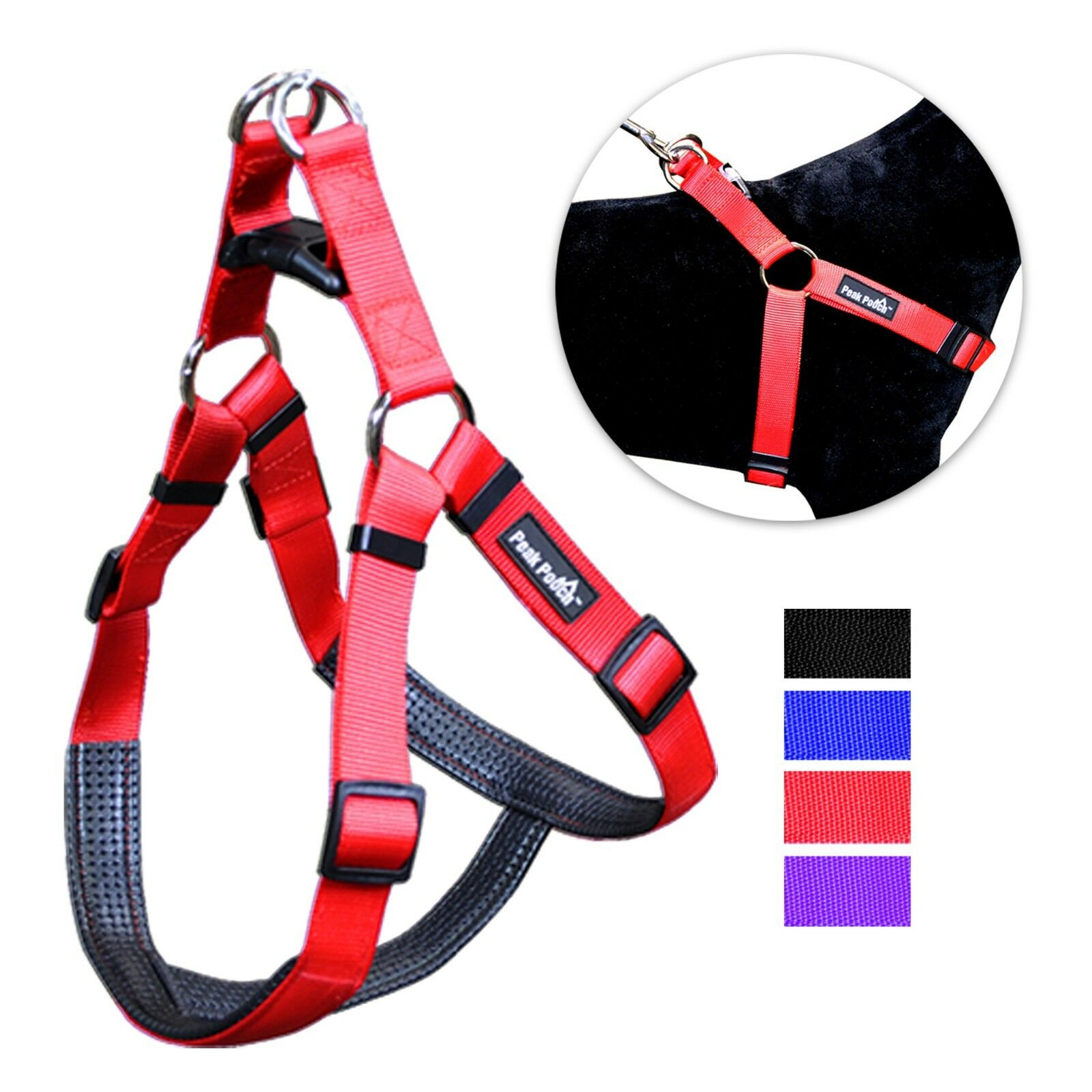 No Pull Padded Comfort Nylon Dog Walking Harness for Small M