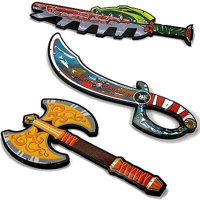 Schaumstoff Piraten Schwert für Kinder Säbel Machete Krieger Axt Schwerte
