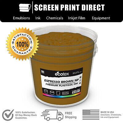 Ecotex Espresso Brown - Premium Plastisol Ink For Screen Printing - Gal.- 128oz