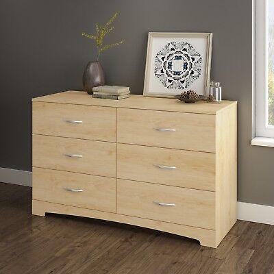 Double Dresser 6 Drawer Accent Furniture Pro Bedroom Design Zen Elegant Natural