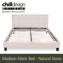 NEW UPHOLSTERED QUEEN & KING TUFTED BEDHEAD FABRIC BED FRAME Moffat Beach Caloundra Area Preview