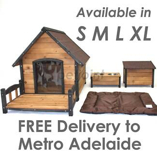 Timber Wood Puppy Dog Kennel Bulldog Free delivery Adelaide Metro