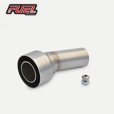 """Fuel Exhaust Removable Baffle DB Killer for 2"""" / 50.8mm (51mm) I.D Angled Outlet"""