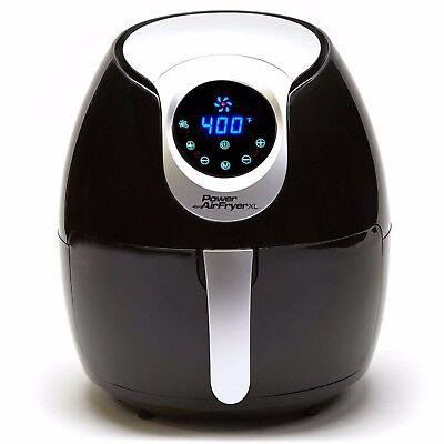 Power Air Fryer Xl 5 3 Qt Deluxe Food Crisper Black Model Af 530 1700W B319