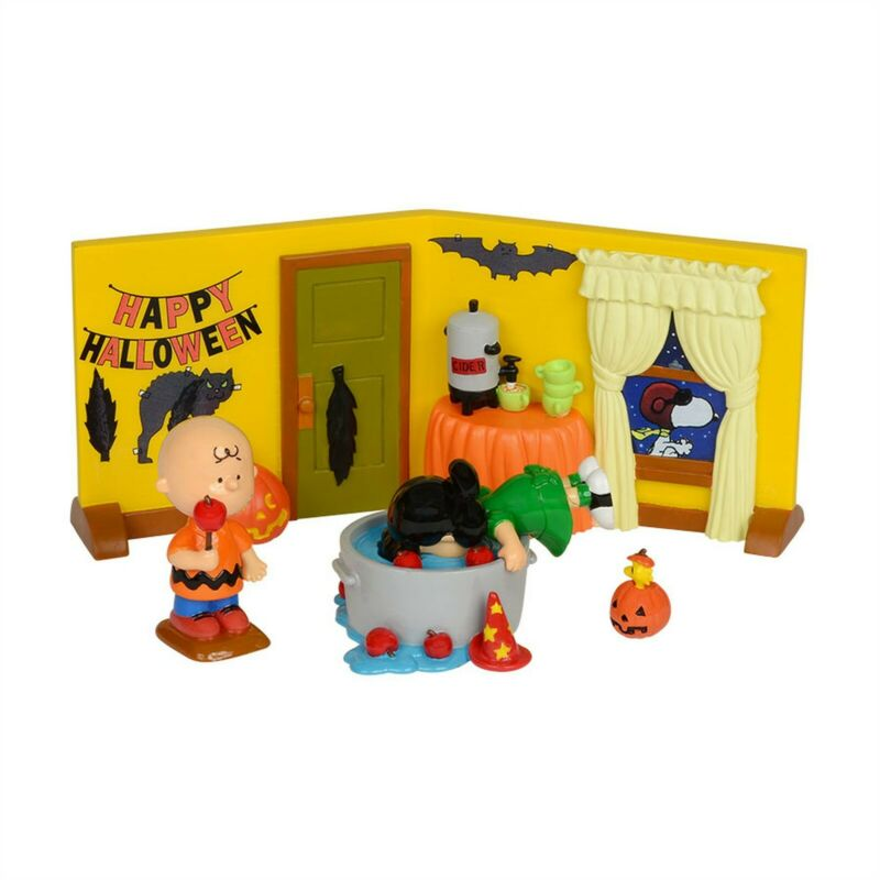 Dept 56 PEANUTS 2014 PEANUTS HALLOWEEN PARTY 4 Piece Set Halloween