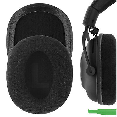 Geekria Velour Replacement Ear Pads for Logitech G Pro Headphones (Black)