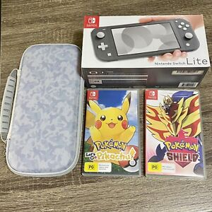 Nintendo Switch Lite Grey with 2 Games and Case