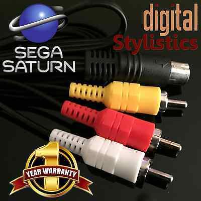 A/V Cable Cord (NEW) Sega Saturn (AV Audio Video, 6 ft.)