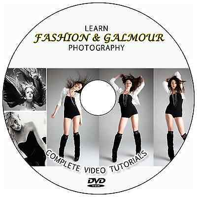 LEARN FASHION/GLAMOUR DIGITAL PHOTOGRAPHY+PHOTOSHOP TRAINING VIDEO TUTORIALS DVD