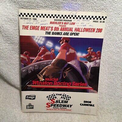 1996 Salem Speedway Program NASCAR Winston Racing Series Halloween 200 Stock Car - Programming Halloween