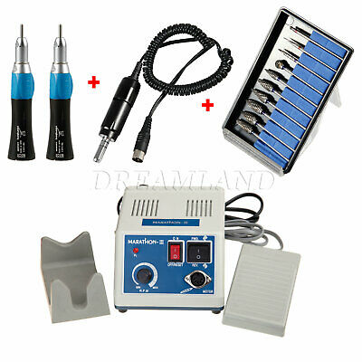 Dental Lab Micromotor eléctrico Motor con 2 Pieza de mano recta +...