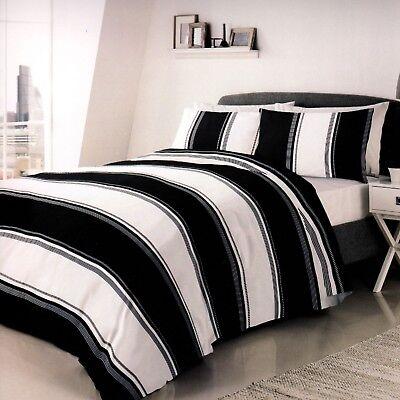 Duvet Set Betley Black & White. Single Double or King