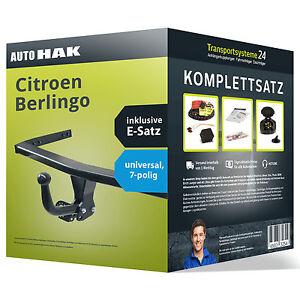 Anhängerkupplung starr CITROEN Berlingo 05.2008-05.2015 + 7po. uni ESatz NEU AHK