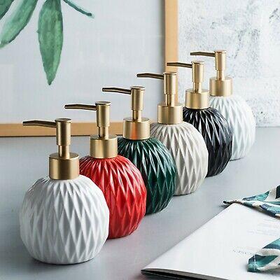 Art Diamond Grenade Soap Dispenser Bathroom Pump Liquid Ceramic Perfume Bottle  Ceramic Liquid Soap Dispenser