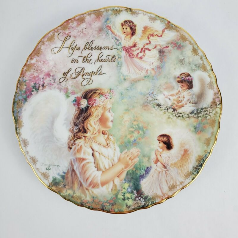 Bradford Exchange Heavenly Blessings Hearts of Angels Dona Gelsinger Decor Plate