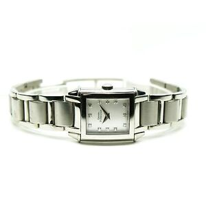 GIRARD PERREGAUX Vintage 1945 Lady's SS Diamond Dial Watch MSRP $7990