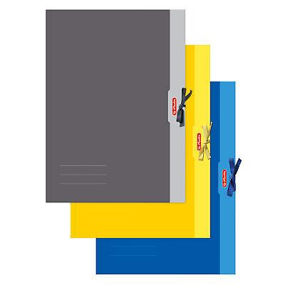 Sammelmappe grau Band unbedruckt DIN A3 Ordnungsmappe Zeichenmappe Mappe Pappe