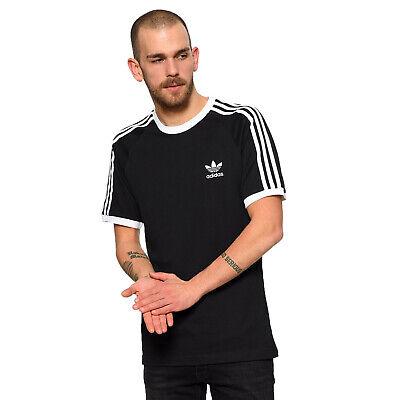 adidas Originals 3 Stripes Logo Tee Herren Trefoil Vintage Shirt Schwarz Weiß Originals 3 Stripes Trefoil