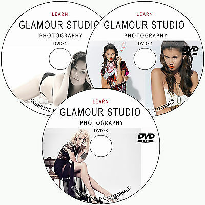 LEARN GLAMOUR STUDIO DIGITAL PHOTOGRAPHY BUSINESS TRAINING TUTORIALS ON 3 DVD's