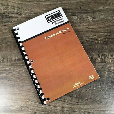 Case 850c 855c Crawler Dozer Loader Operators Manual Owners Book Bulldozer
