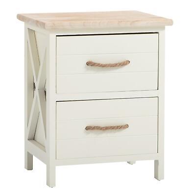 Weiße Konsole Schrank (Nachttisch Nachtschrank Nachtkommode Konsole in weiß Shabby Vintage)