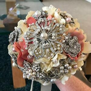 2 x Bridesmaid Brooch Bouquets Wedding Gillieston Heights Maitland Area Preview