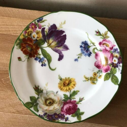 Lovely Rochard Limoges Garden Patch Set of 6 Salad or Dessert Plates