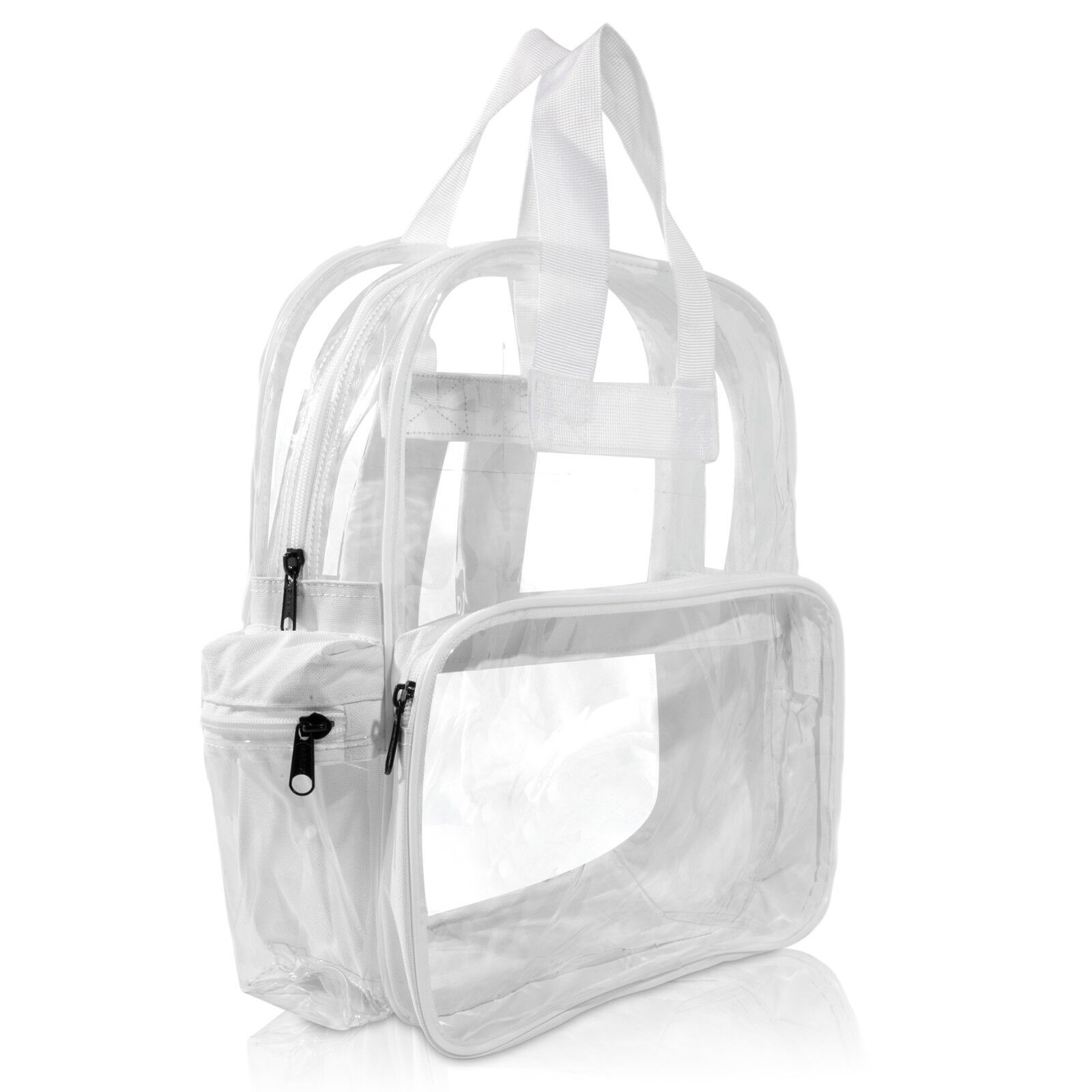 DALIX Clear Backpack School Pack See Through Bag in White Fr