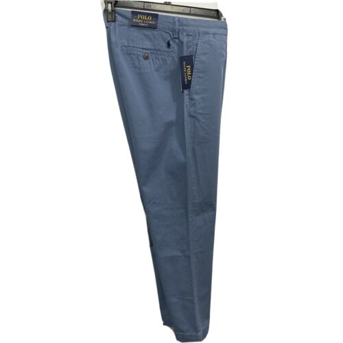 Polo Ralph Lauren Mens Classic Fit Chino Pants 32×30 Blue Flat Front Cotton Clothing, Shoes & Accessories