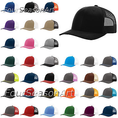 New for 2017 - Richardson Trucker Ball Cap Meshback Hat Snapback Cap-112