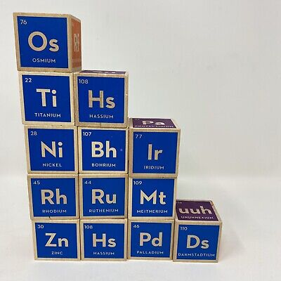 Periodic Table Blocks (Uncle Goose Periodic Table Blocks - Made in USA 13 Blocks Elements)
