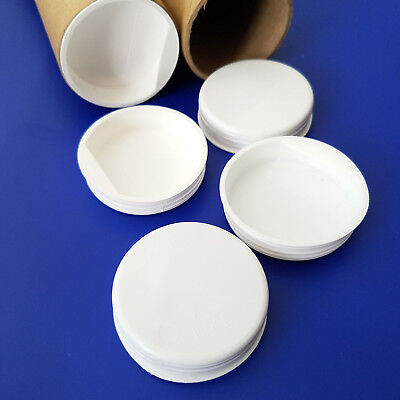 2 White Plastic End Caps For Shipping Mailing Tubes. Set Of 50.