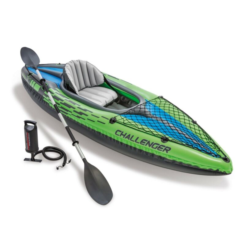 Intex Challenger K1 Inflatable Kayak with Oar and Hand Pump 68305EP New