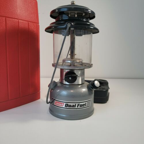 Coleman Dual FuelModel 285 Lantern with Red Hard Case Aug 1992 -